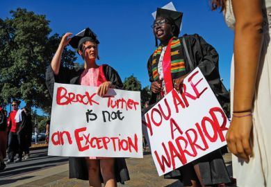 Stanford University students in solidarity for Brock Turner rape victim
