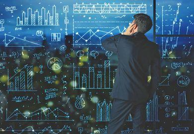 Statistics on digital screen