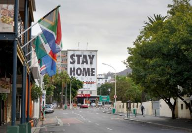 Stay home sign Cape Town