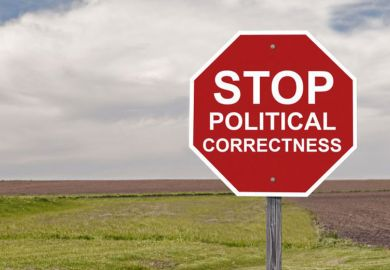 'Stop political correctness' sign