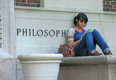 Student on US campus