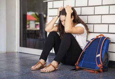 Stressed university student