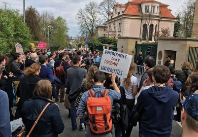 students protestors orban hungary