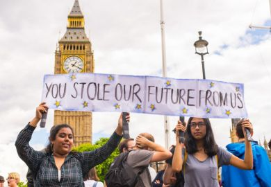 Students protesting against Brexit