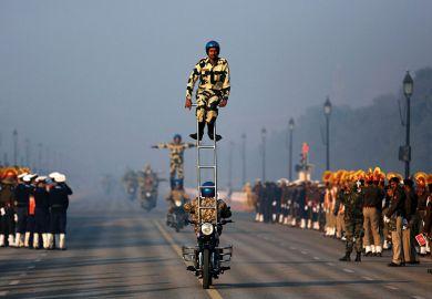 Indian stunt motorbikes