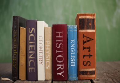 University subjects as books