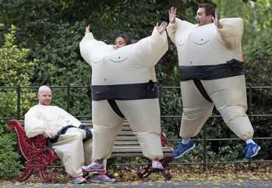 Inflatable sumo wrestlers