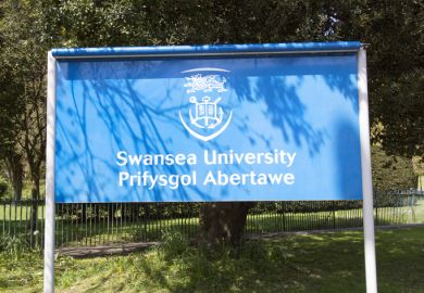 Swansea University sign