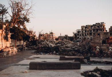 Ruins in Aleppo, Syria