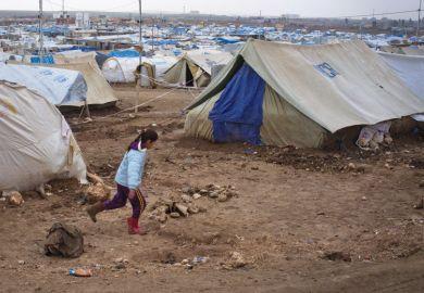 Syrian refugee girl, Domiz camp, Northern Iraq