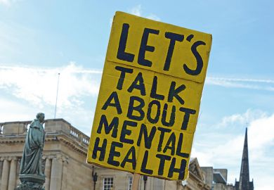 Talk about mental health sign
