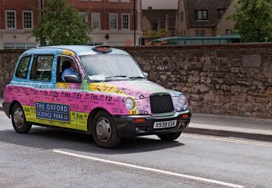 Taxi with periodic table