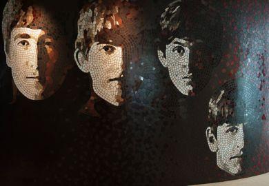 The Beatles mosaic, Hard Rock Hotel, Penang, Malaysia