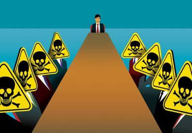 Toxic meeting illustration