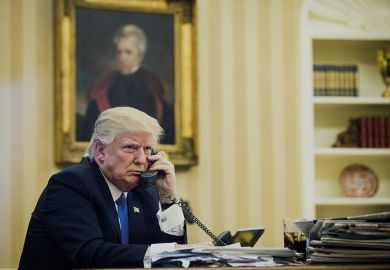 Donald Trump on the phone