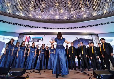 Choir at THE World Academic Summit 2018