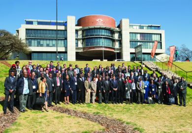 Participants in the Times Higher Education Africa Universities Summit