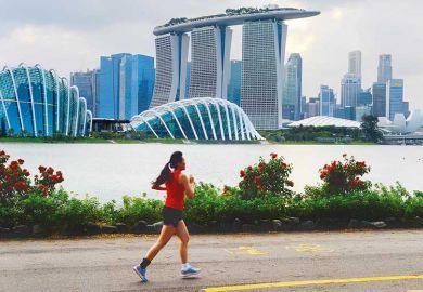 Runner in Singapore