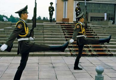 Changing of the guard ceremony in Bishkek, Kyrgyzstan