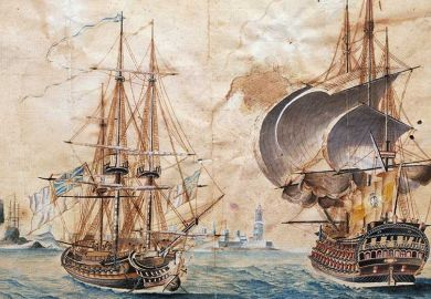 English naval vessels in the 18th century
