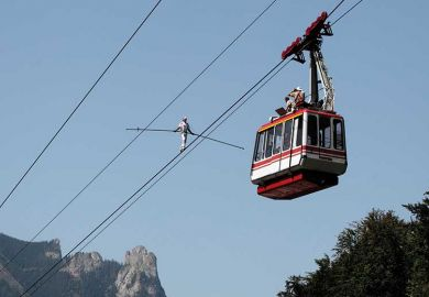 Tightrope walking in Switzerland