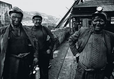 Miners in Wales