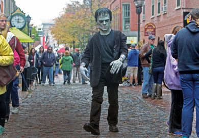 Person in Frankenstein costume