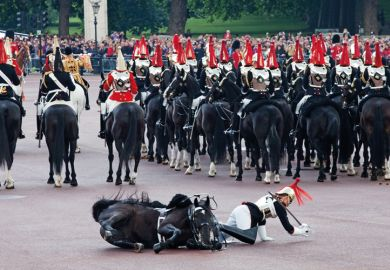 Royals horse Guard falls off horse at Trooping the Colour ceremony in London