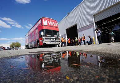 The Labor election campaign bus, Australia