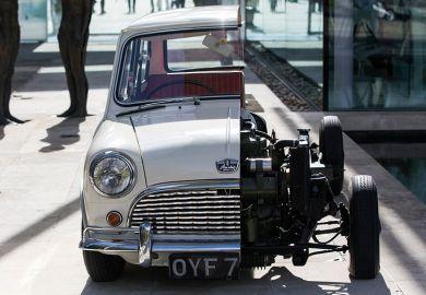 Cross section of Mini car