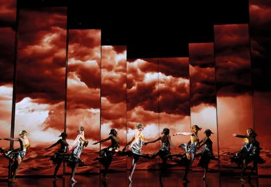 Ballet with storm clouds