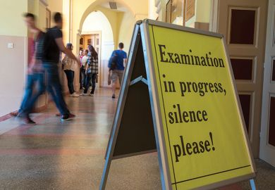 Examination in Progress, Silence Please sign