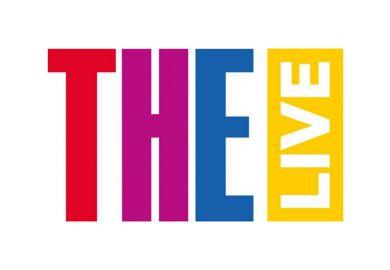 THE Live logo white border