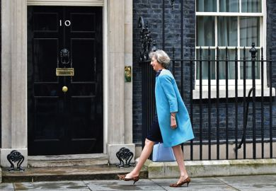 Theresa May entering 10 Downing Street, London