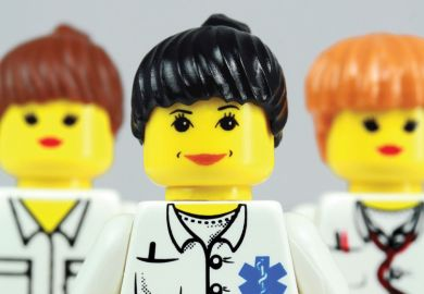 Three female Lego characters