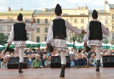 "LJUD group from Slovenia performs ""Invasion"" on a street in Sibiu, Romania, 2013"