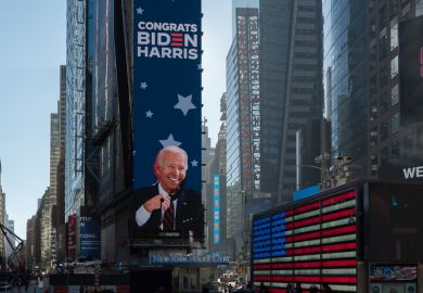 Times Square tribute to president-elect Joe Biden