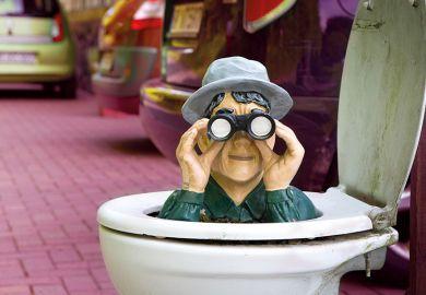 Spy in toilet