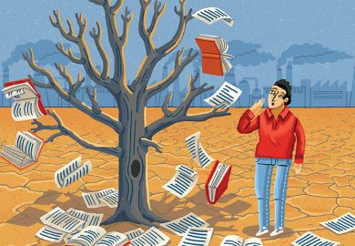 Book tree illustration