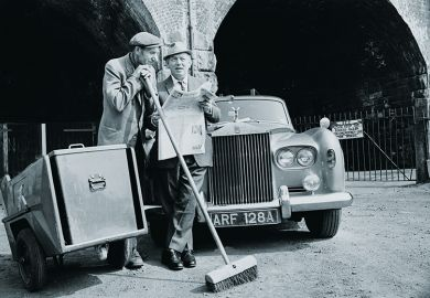 Two men with Rolls Royce
