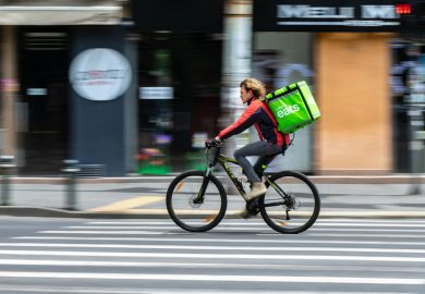 Uber Eats food delivery gig economy