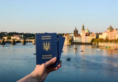 Ukrainian passport in Prague