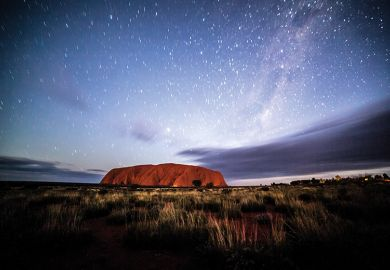 Night sky at Uluru