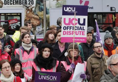 University and College Union (UCU) rally, Manchester