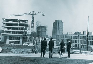 20 July 1966: Construction work at the new University of Essex