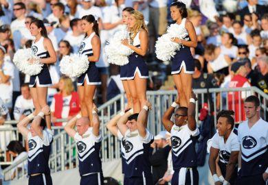 US cheerleaders