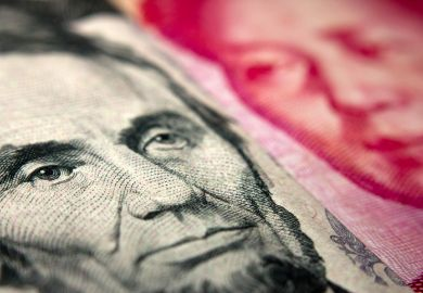 US and Chinese banknotes