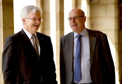 Vice-chancellors of the University of Melbourne and university of birmingham