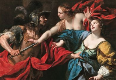 Venus Preventing her Son Aeneas from Killing Helen of Troy, by Luca Ferrari