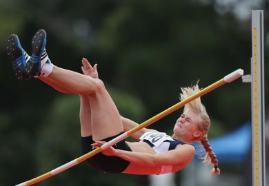 Vianca du Toit fails to clear high jump during Olympic Trials